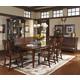 A.R.T. Whiskey Oak 6pc Country Trestle Dining Set in Barrel Oak