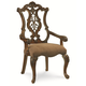 Legacy Classic Pemberleigh Pierced Back Arm Chair in Brandy Finish 3100-141 KD (Set of 2)