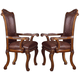 Acme Agate Arm Chairs (Set of 2) in Cherry 60054