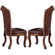 Acme Agate Side Chairs (Set of 2) in Cherry 60053