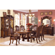 Acme Agate 7PC Pedestal Dining Room Set in Cherry