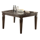 Acme Agatha Black Marble Top Counter Height Table  in Espresso 72485