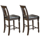 Acme Ansley Counter Height Chair (Set of 2) in Espresso 70977