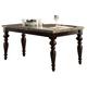 Acme Bandele Emperadora Marble Top Dining Table in Espresso 70380KIT