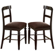 Acme Bandele Counter Height Chairs (Set of 2) in Espresso 70387