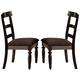 Acme Bandele Dining Side Chair (Set of 2) in Espresso 70382
