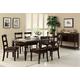 Acme Bandele 7PC Emperadora Marble Top Dining Room Set in Espresso
