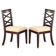 Acme Beale Dining Side Chair (Set of 2) in Espresso 70217