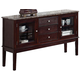 Acme Camelot Black Marble Top Server in Espresso 70709