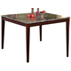 Acme Camelot Black Marble Top Counter Height Table in Espresso  70705