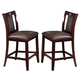 Acme Camelot Counter Height Chair (Set of 2) in Espresso  70707