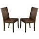 Acme Charissa Upholstered Side Chair (Set of 2) in Dark Walnut 70752