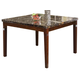 Acme Doretta Black Marble Top Counter Height Table in Walnut 70768
