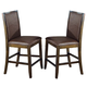 Acme Dwayne Counter Height Chairs (Set of 2) in Dark Walnut 70757