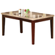 Acme Earline White Marble Top Dining Table with Brown Insert in Walnut 70772