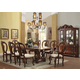 Acme Frederick 9PC Double Pedestal Dining Room Set in Cherry