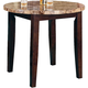 Acme Granada Brown Marble Top Round Counter Height Table in Walnut 17044