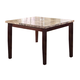 Acme Granada Brown Marble Top Counter Height Table in Walnut 17043