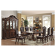 Acme Judith 9PC Double Pedestal Dining Room Set in Walnut