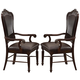 Acme Judith Dining Arm Chair (Set of 2) in Cherry 60374