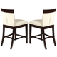 Acme Keelin Counter Height Chairs (Set of 2) in Espresso 71043