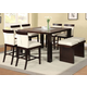 Acme Keelin 7PC Counter Height Dining Room Set with Insert Table Top in Espresso