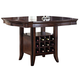 Acme Keenan Storage Counter Height Table in Dark Walnut 60350