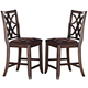 Acme Keenan Counter Height Chairs (Set of 2) in Dark Walnut 60353