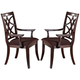 Acme Keenan Dining Arm Chairs (Set of 2) in Dark Walnut 60258