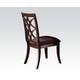 Acme Keenan Dining Side Chairs (Set of 2) in Dark Walnut 60257