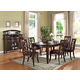 Acme Keenan 7PC Leg Dining Room Set in Dark Walnut