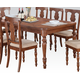 Acme Marceo Leg Dining Table in Distressed Brown 70880
