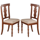 Acme Marceo Dining Side Chair (Set of 2) in Distressed Brown 70882