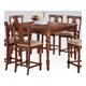 Acme Marceo Counter Height Table in Distressed Brown 70885