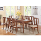Acme Marceo 9PC Leg Dining Room Set in Distressed Brown