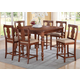 Acme Marceo 7PC Counter Height Dining Room Set in Distressed Brown