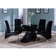 Acme Pervis 5PC Modern Dining Room Set in Black