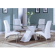Acme Pervis 5PC Modern Dining Room Set in White