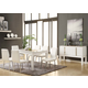Acme Kilee 9PC Modern Dining Room Set in White
