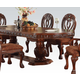Acme Quinlan Oval-Shaped Double Pedestal Table in Cherry 60265