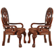 Acme Quinlan Dining Arm Chair (Set of 2) in Cherry 60269