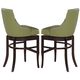 Acme Vinson Green Bar Stool (Set of 2) in Dark Brown 60092