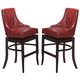 Acme Vinson Red Bar Stool (Set of 2) in Dark Brown 60093