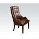 Acme Winfred Tufted Back Sleigh Side Chair in Cherry 60077
