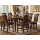 Acme Winfred 9PC Counter Height Dining Room Set in Cherry