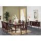 Acme Camelot 7PC Black Marble Top Dining Room Set in Espresso