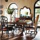 Stanley Furniture Costa Del Sol 7-Piece Palazzo Principale Marquetry Table Set in Cordova