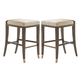 Lexington Tower Place Lasalle Bar Stool in Walnut Brown Arlington Finish 01-0706-816-01 (Set of 2)