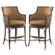 Tommy Bahama Home Landara Oceana Swivel Bar Stool in Rich Tobacco Finish 01-0545-816-01 (Set of 2)