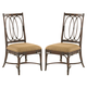 Tommy Bahama Home Landara Palmetto Side Chair in Rich Tobacco Finish 01-0545-880-01 (Set of 2)